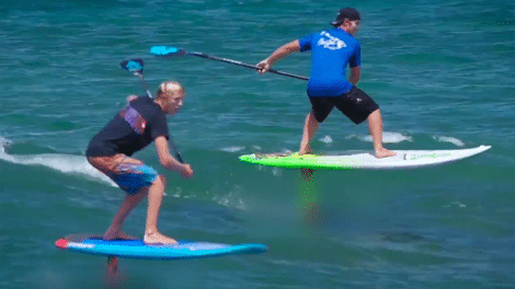 Stand up paddle surf foil avec Connor Baxter et Zane Schweitzer