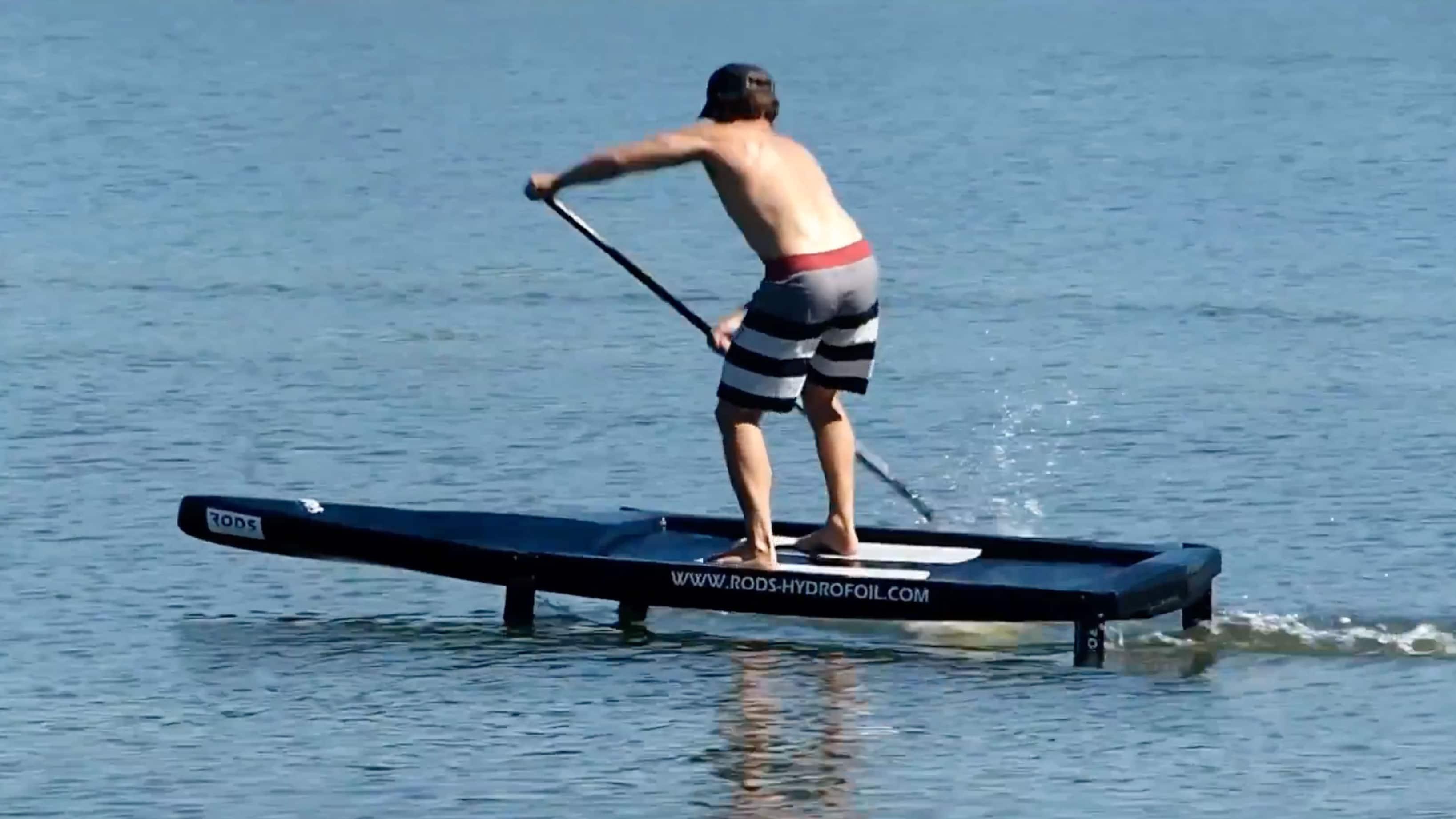 Vidéo d'un stand up paddle foil de race avec Eric Terrien !