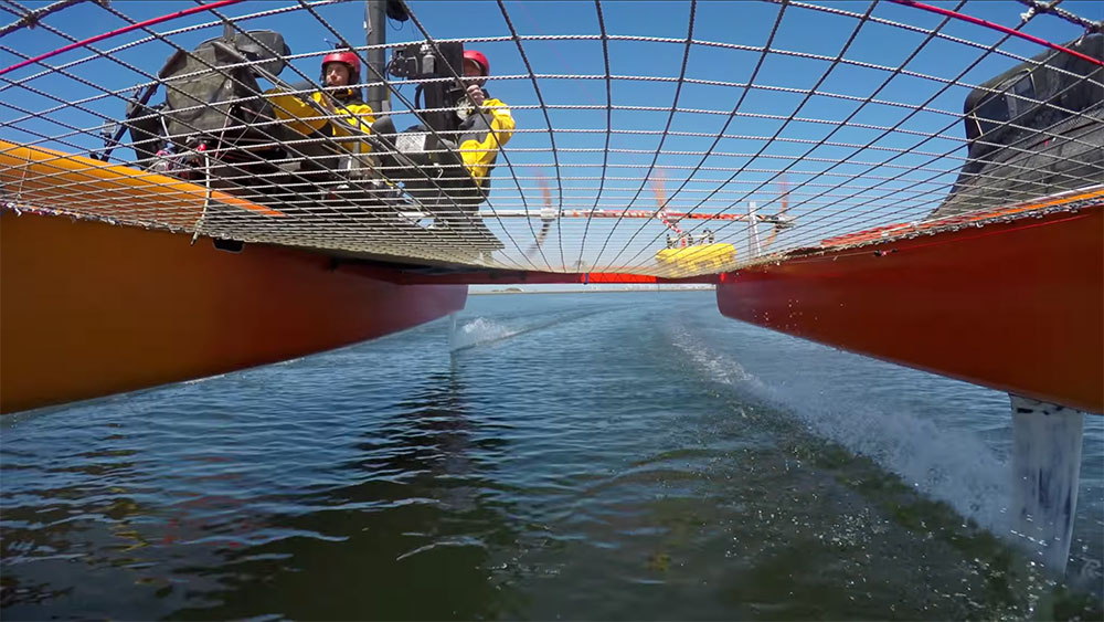 Trimaran Airfoiler, un concept boat qui utilise les foils
