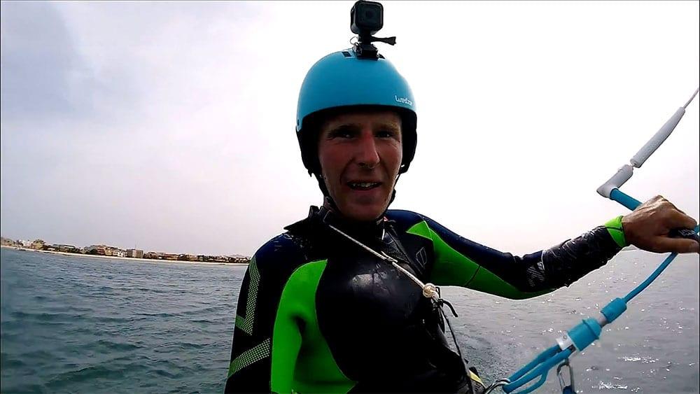 Ulrich Frank réalise 166 km en 7 heures sur son kite foil pour la bonne cause