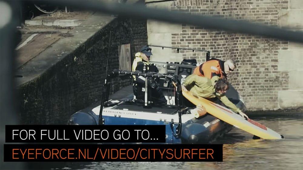 Vidéo surf foil avec un JetFoiler à Amsterdam par Don Montague