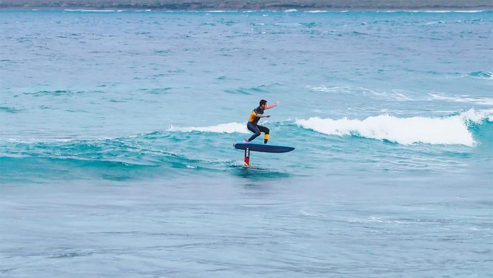 Vidéo de Martin Letourneur en surf foil Sroka à Lanzarote