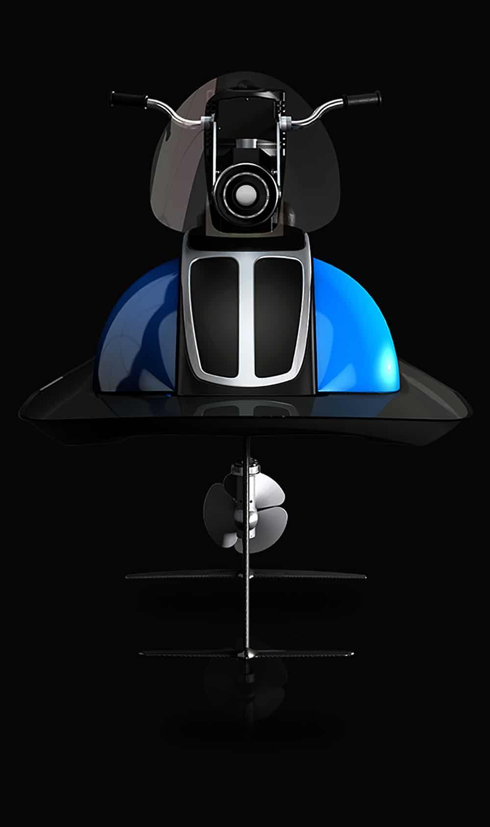 Le Lupo, une moto marine électrique montée sur foils
