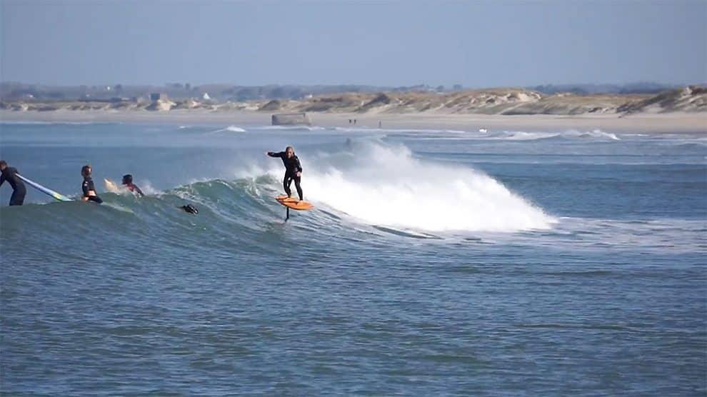 Vidéo d'une session Surf & Sup Foil à La Torche