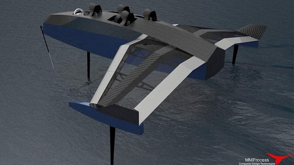 E-skell, les prémices d'un bateau électrique volant