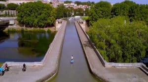 Vidéo PWR-Foil, du foil électrique, sur le Canal du Midi