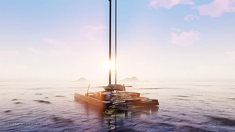 Nemesis One catamaran hydroptère de luxe