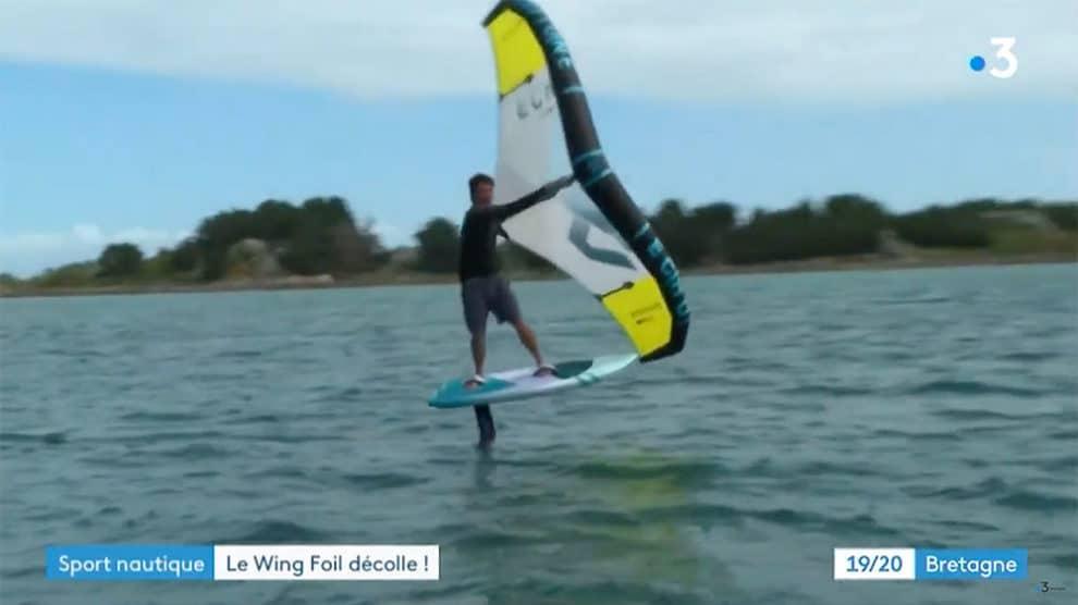 Wingfoil sur France 3 Bretagne