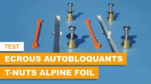 Ecrous autobloquants T-Nuts Alpine Foil