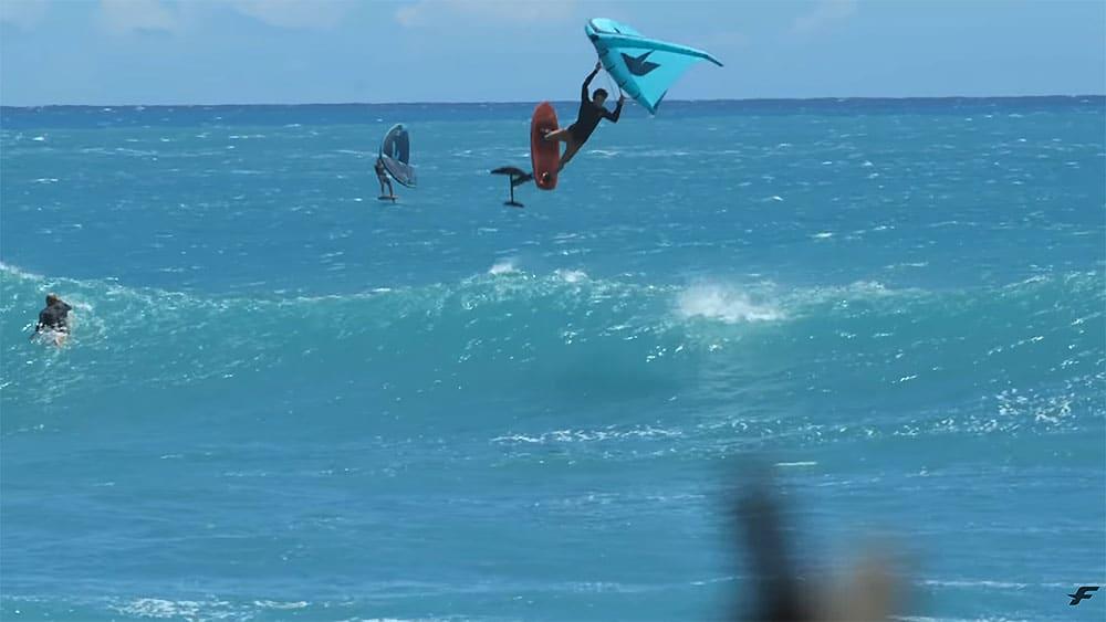 Titouan Galea, vidéo wingfoil à Maui, Hawaii