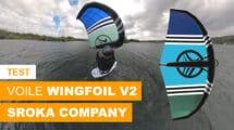 Test voile Wingfoil V2 de Sroka Company