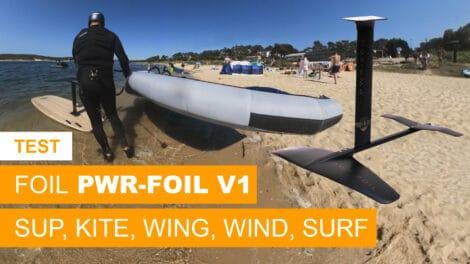 Test du foil de PWR-Foil